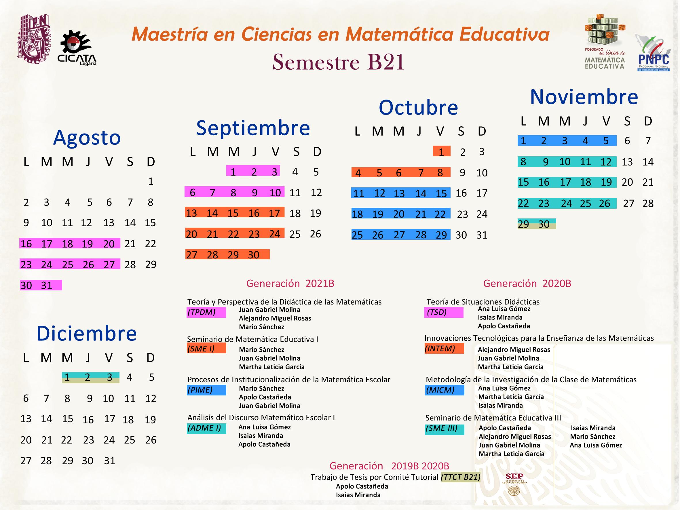 Calendario de UAMaestria
